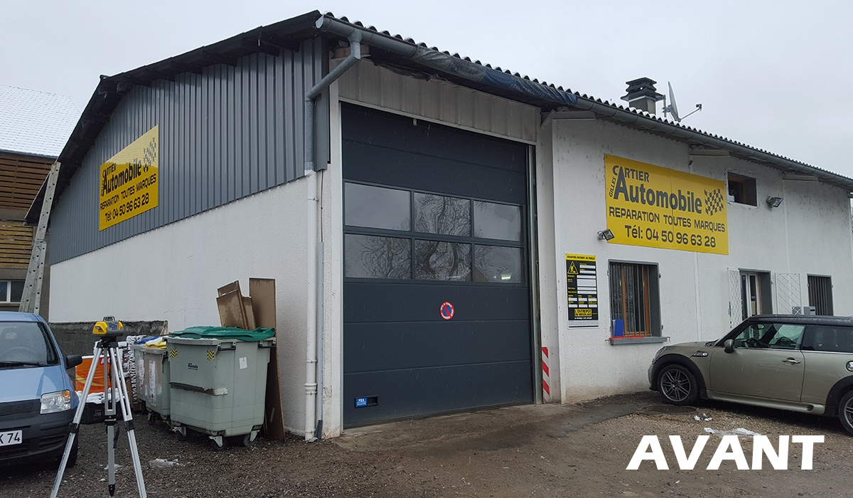 Rénovation d'un garage auto (avant)