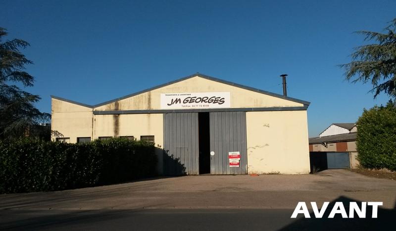 Rénovation d'un entrepôt logistique (avant)