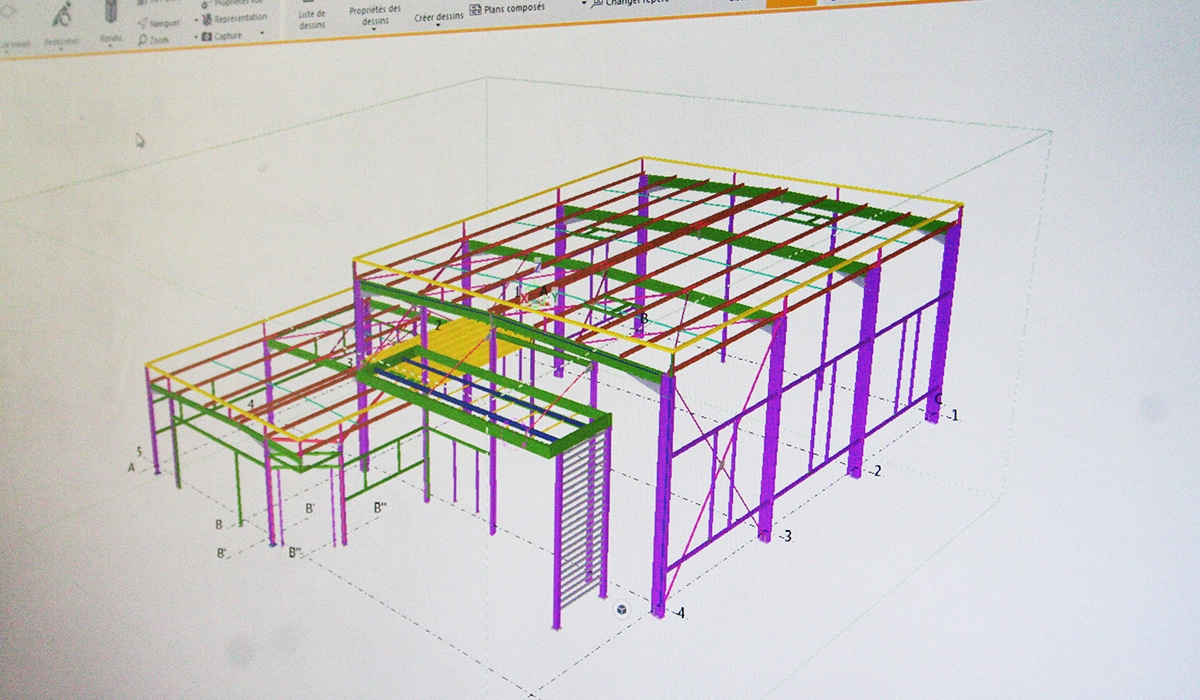 Conception sur Tekla